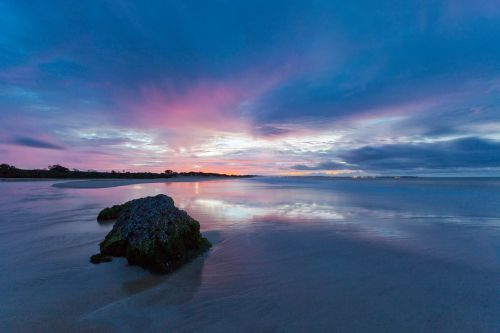 before sunrise sandy reflection