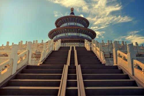beijing  temple of heaven  stairs