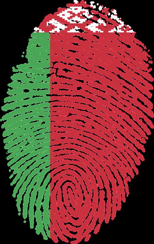 belarus flag fingerprint