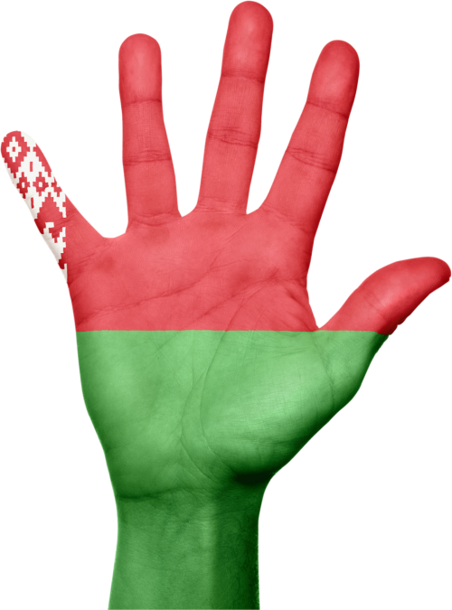 belarus flag hand