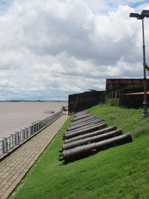 belem brazil old harbour fort