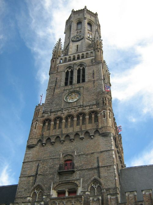 belfry of bruges church cathedral