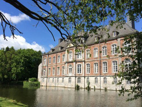 belgium wallonie moated castle