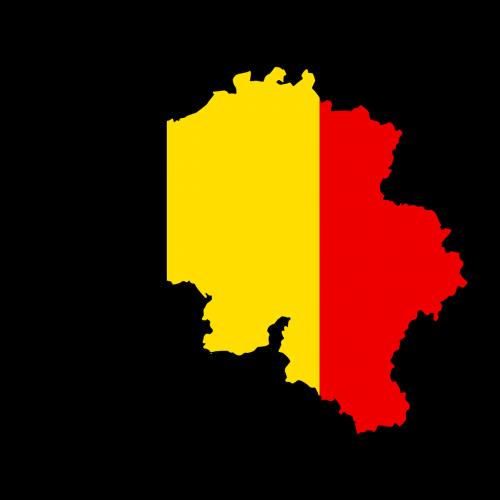 belgium map flag