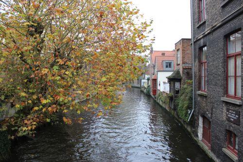 belgium brugge autumn