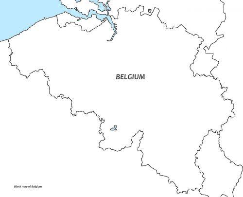 belgium white map belgium blank map