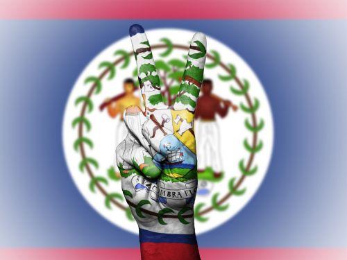belize flag peace