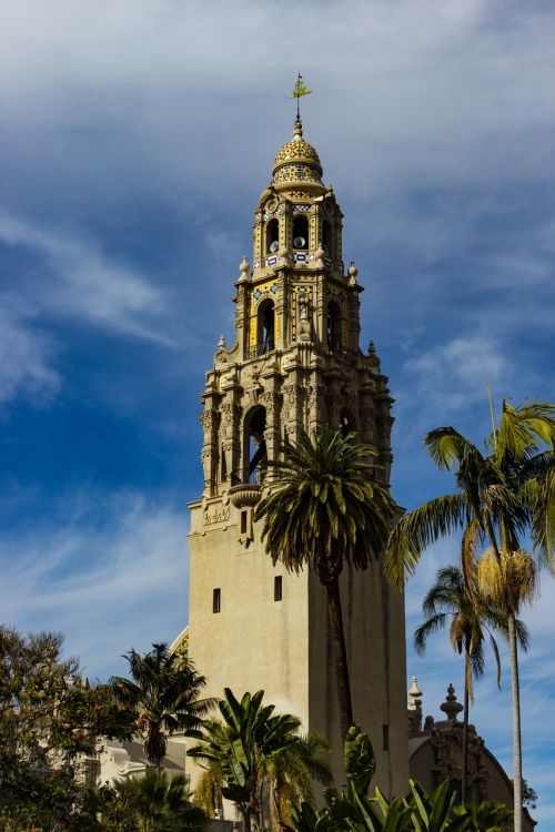 bell tower balboa park architectural