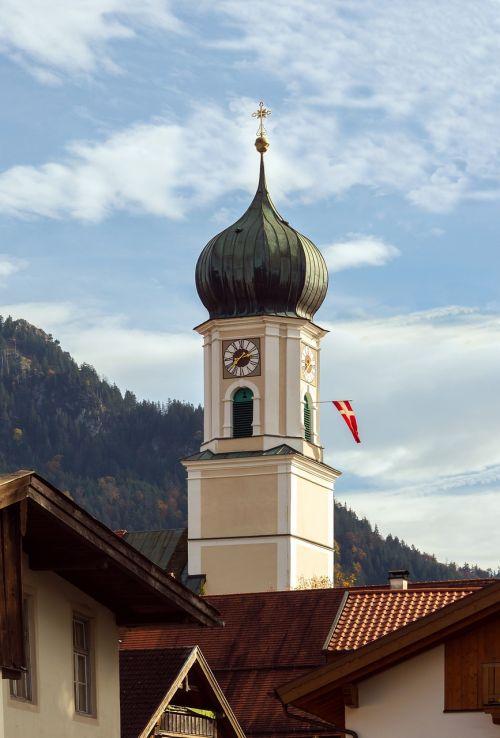 bell tower oberammergau bavaria