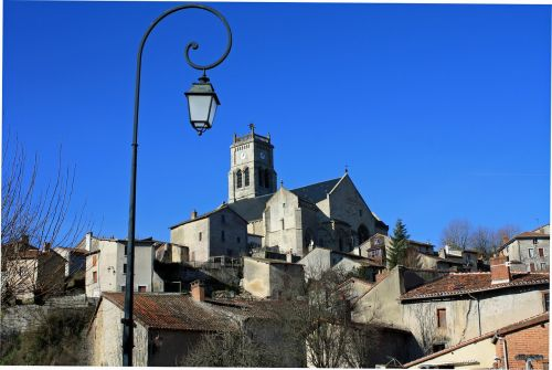 bellac france hilltop town french town