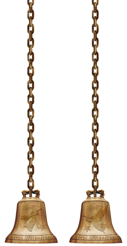 bells chains isolated