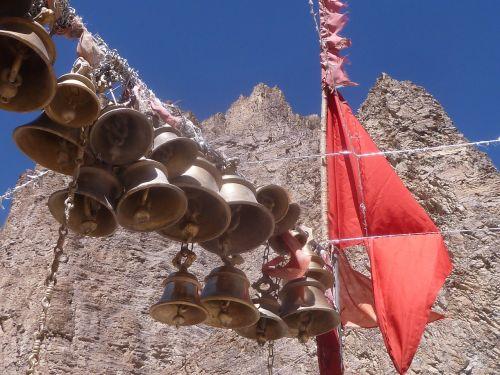 bells flag temple