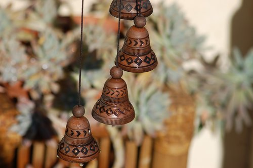 bells in the wind  rattle in the wind  bells