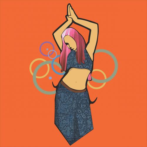 belly dancer hoops woman