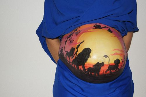 belly painting lion king pregnant