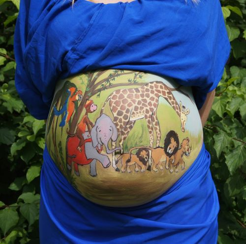 belly painting bellypaint jungle