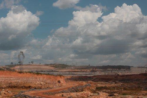 belo monte dam under construction  para  amazonas