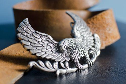 belt buckle eagle