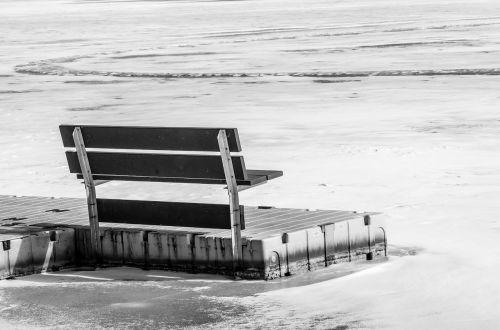 bench lake ice