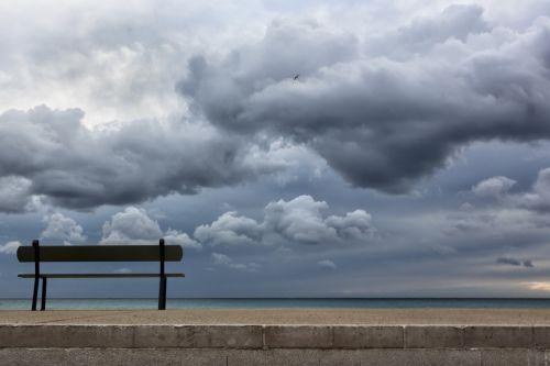 bench sea seaside