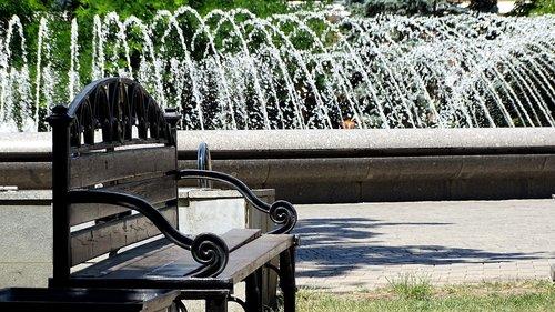 bench  fountain  showplace
