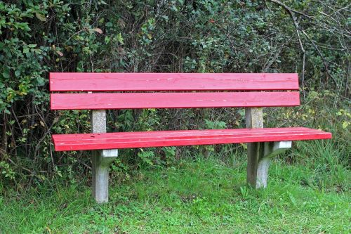 bench bank red