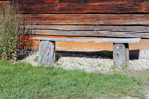 bench wooden bench bank