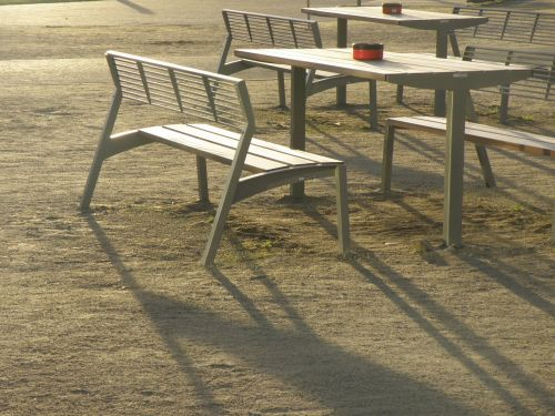 bench tables outdoor