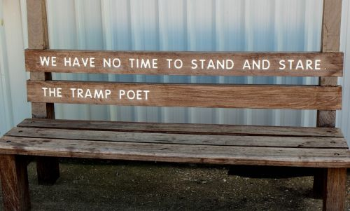 bench poetry scenery