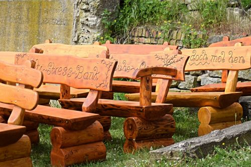 benches wood out
