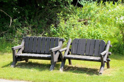 stendas, parkas, sėdynė, medinis & nbsp, stendas, atsipalaiduoti, taikus, ramus, atsipalaidavęs, suolai parke