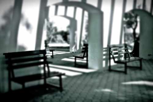 Benches, Shadows & Lines