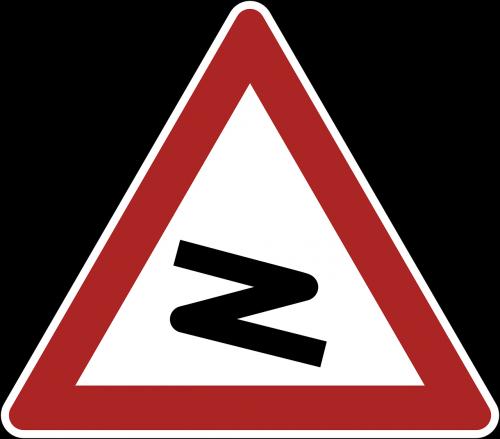 bend danger warning