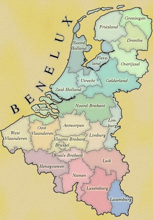 benelux maps cartography