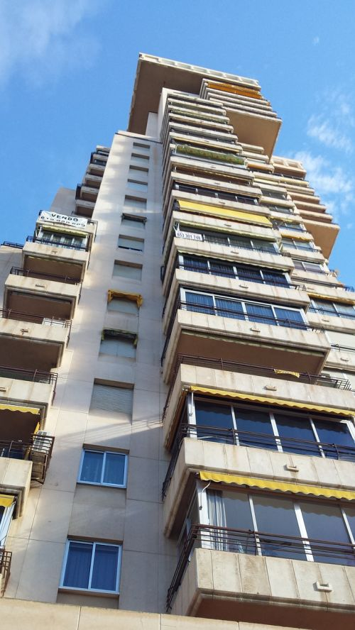 benidorm apartment block high