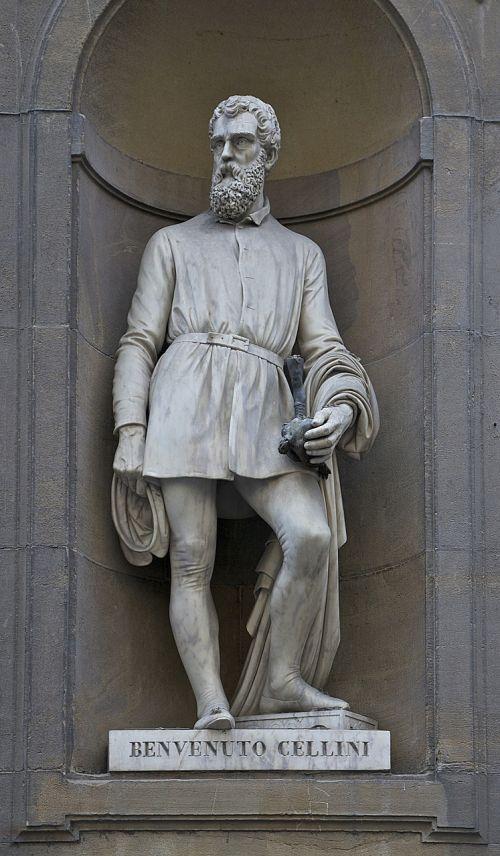 benvenuto cellini statue uffizi