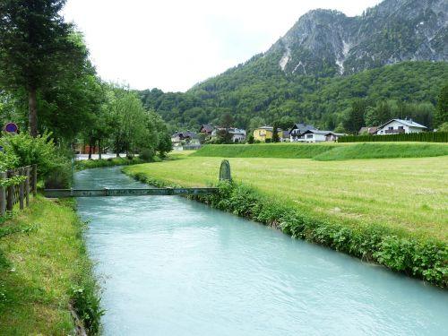 berchtesgadener ache river bach