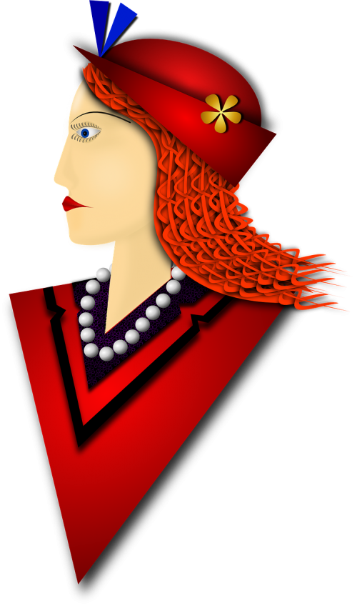 beret red lady