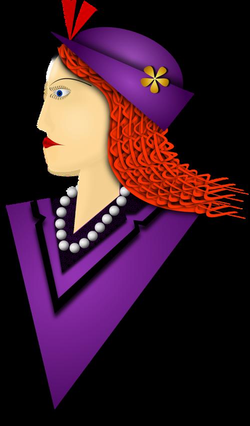 beret lilac lady