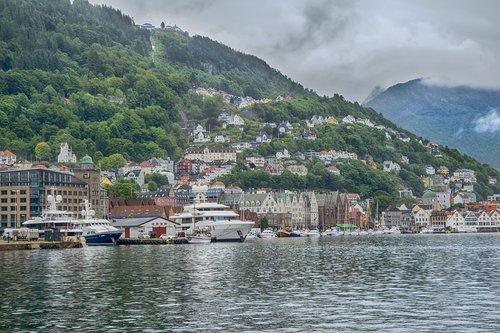 bergen  norway  port