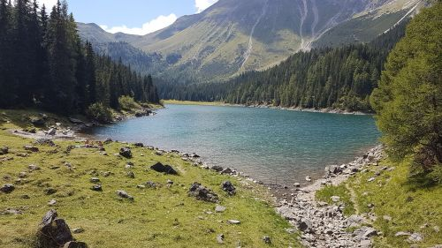 bergsee mountains alp