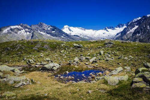 Bergsee,Alpių,kalnai,gamta,austria,kraštovaizdis,tyrol,kalnų peizažas,zillertal