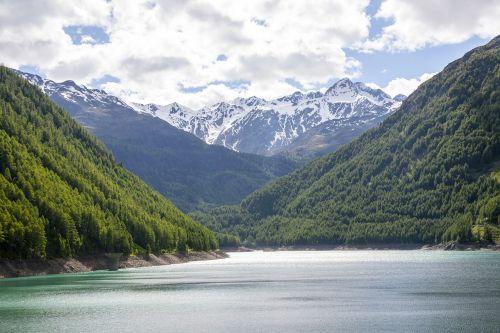 bergsee alpine val senales