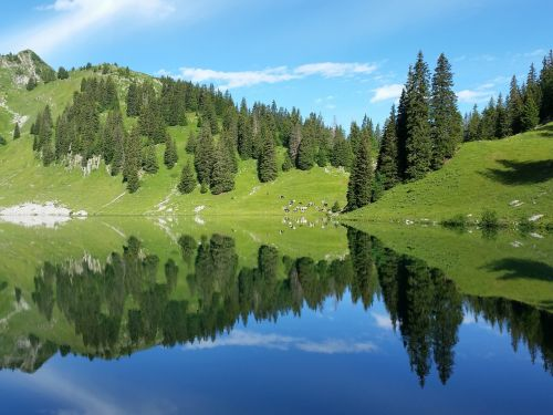 bergsee mountains landscape