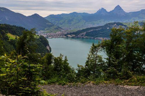 bergsee alpine swiss alps