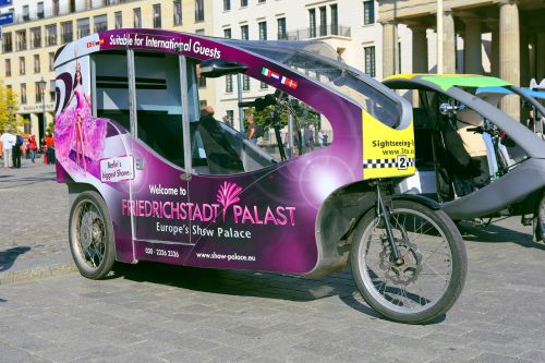 bicycle taxi berlin capital