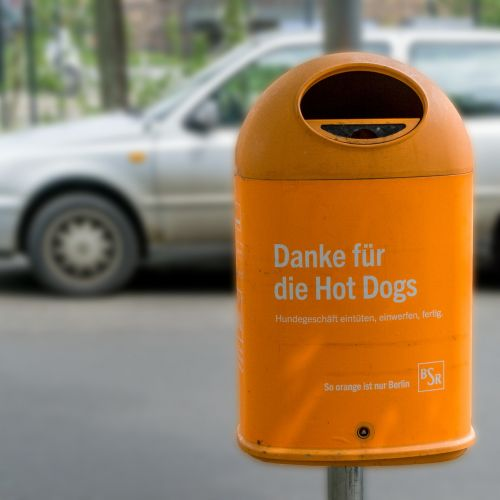 berlin garbage dog shit