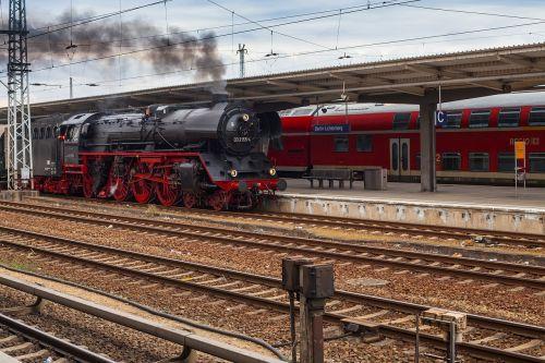 berlin the train station of lichtenberg steam locomotive