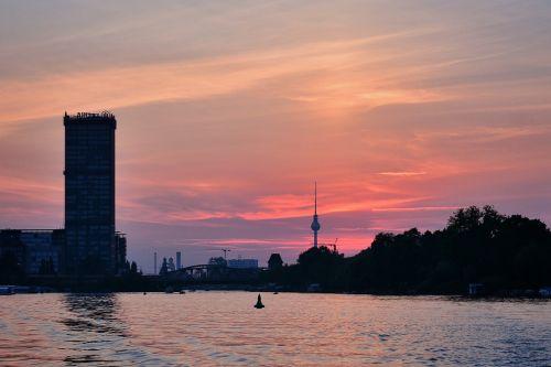 berlin spree sunset