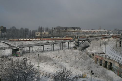 berlin s bahn snow